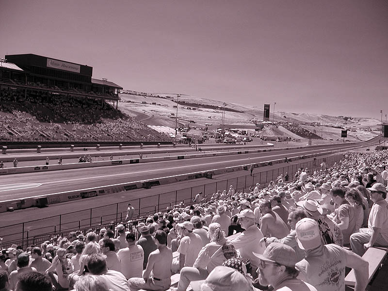 Raceway infrared photo