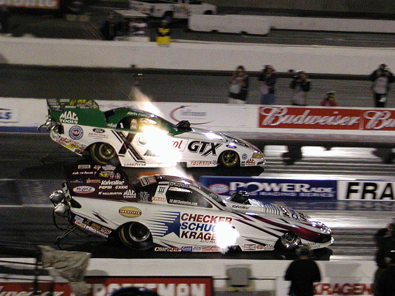 John Force and Del Worsham
