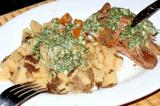 lesso and potatoes with aioli