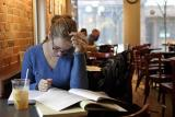Studying at Sweetwaters Cafe