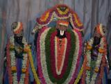 Close up of Rukmini Sathyabhama Sametha Venugopala Swamy of Devanhalli