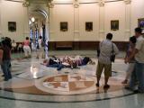 Kids Posing on the Rotunda Floor