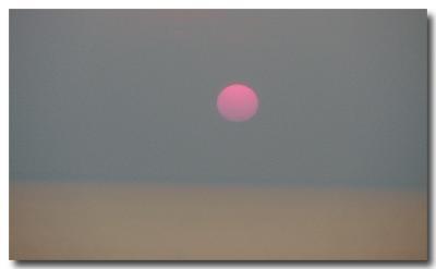 Foggy Ferry Sunset