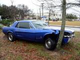 '67 stang has no anti-lock brakes...