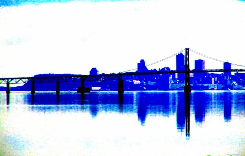 Profil de Québec en bleu