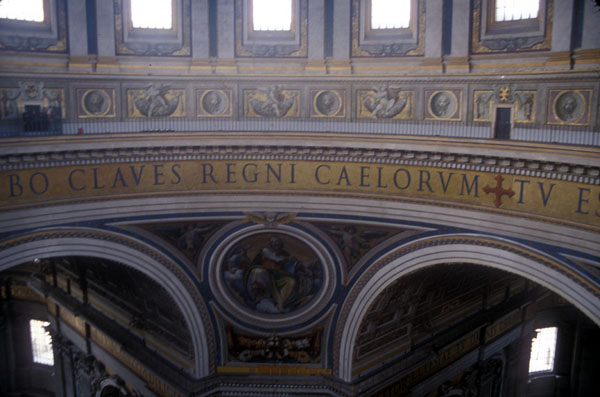 Inside St. Peters Basilica (Notice the doors for scale)