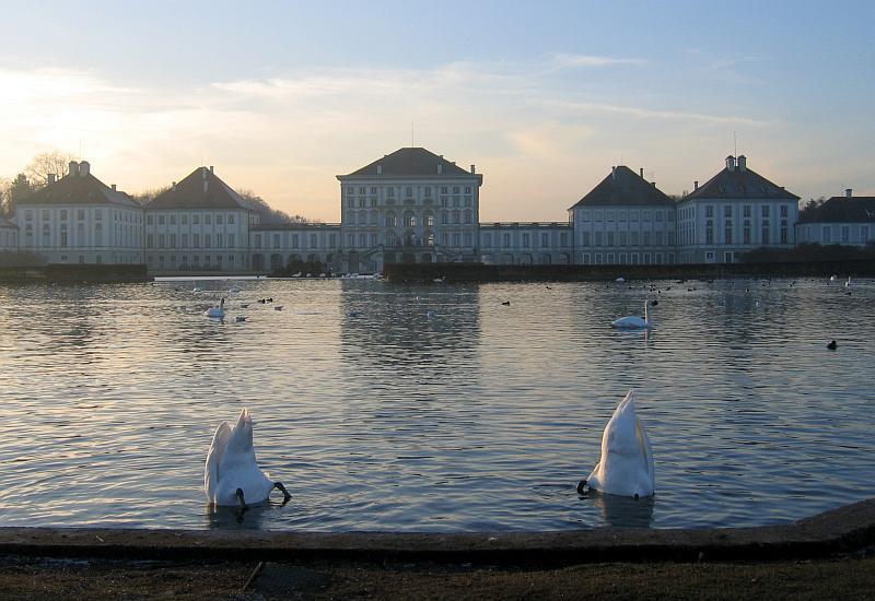 Munich - bottoms up at Schloss Nymphenburg