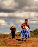 Tourists at Tiwanaku