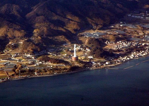 World Peace Daikannnon Statue, 100m tall, Awaji Island