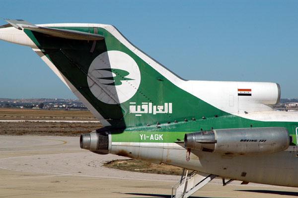 Iraqi Airways 727 at Amman (YI-AGK)