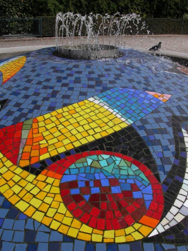 Colorful fountain