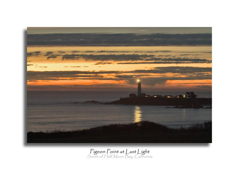 Last Light at Pigeon Point