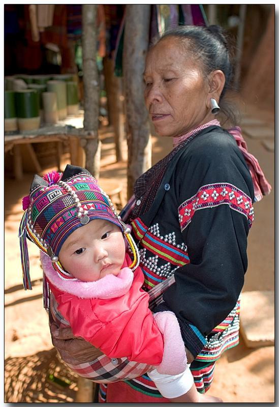 Karen tribe mother & daughter