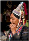 Hilltribe lady with cheroot