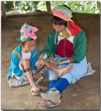 Padaung mother and daughter
