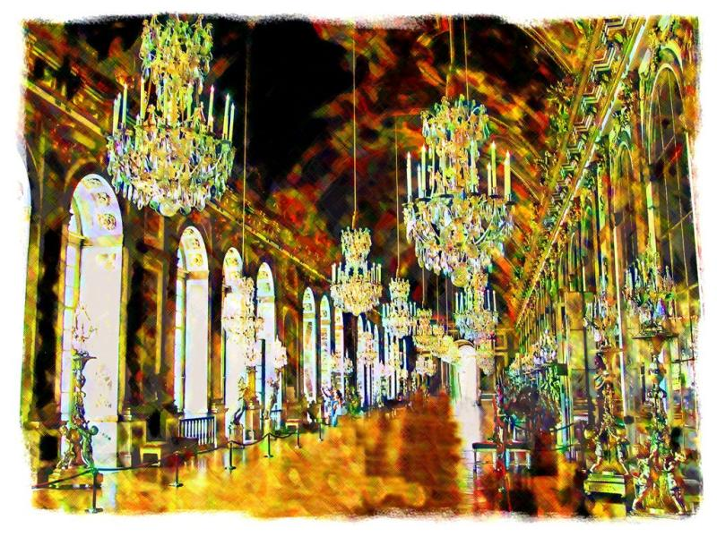 Hall of Mirrors in Chateau de Versailles