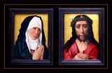 La Vierge de douleur et le Christ couronné d'épines (1420) par Dirk BOUTS