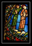 13th century stained-glass window