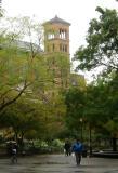 Judson Church  & NYU Law School at Washington Square South & Thompson Street