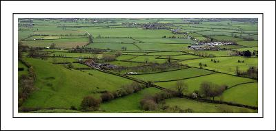 From the top of Glastonbury Tor, Glastonbury, Somerset