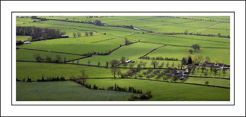 From the top of Glastonbury Tor, Glastonbury, Somerset