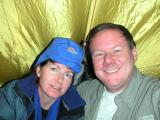 In our tent