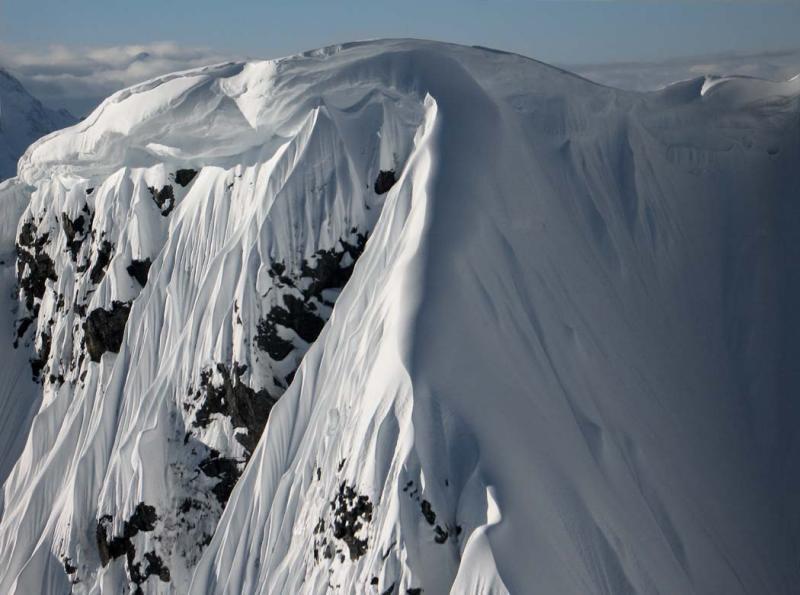 Elephant Butte, Summit Cornice (ElephantButte040905-16adj.jpg)