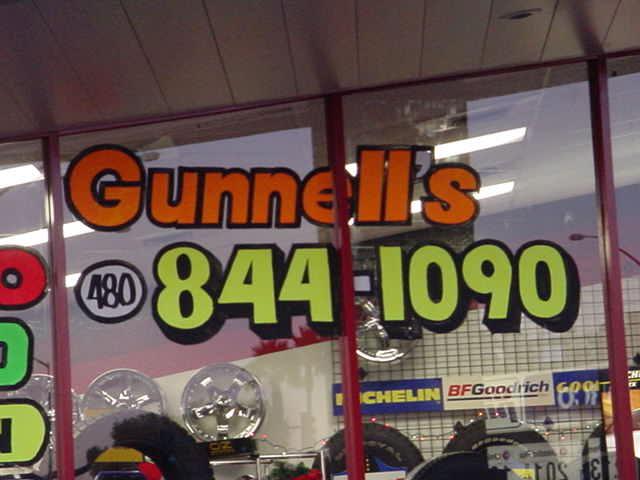Gunnells Tire & Auto<br> 1950 N Gilbert Road<br> 480-844-1090