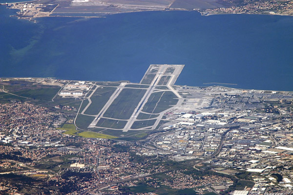 Marseille Airport from 20000ft