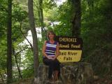 Bald River Falls Sign and Me