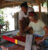 me learning to weave        Lombok