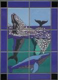 Whale frolic tile