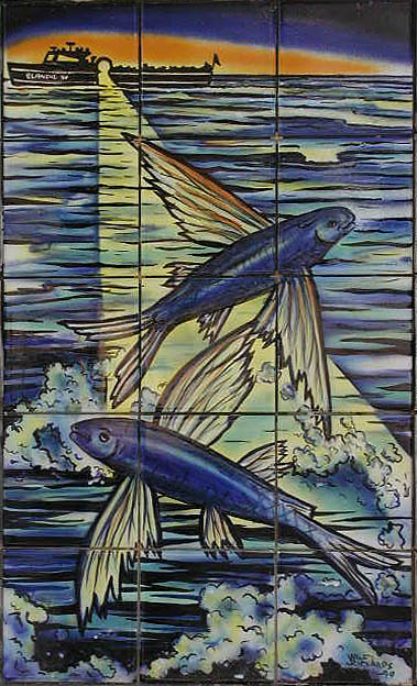 flying fish tile