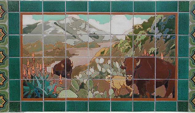 Buffalo scene tiles
