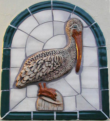 Pelican tile at restroom
