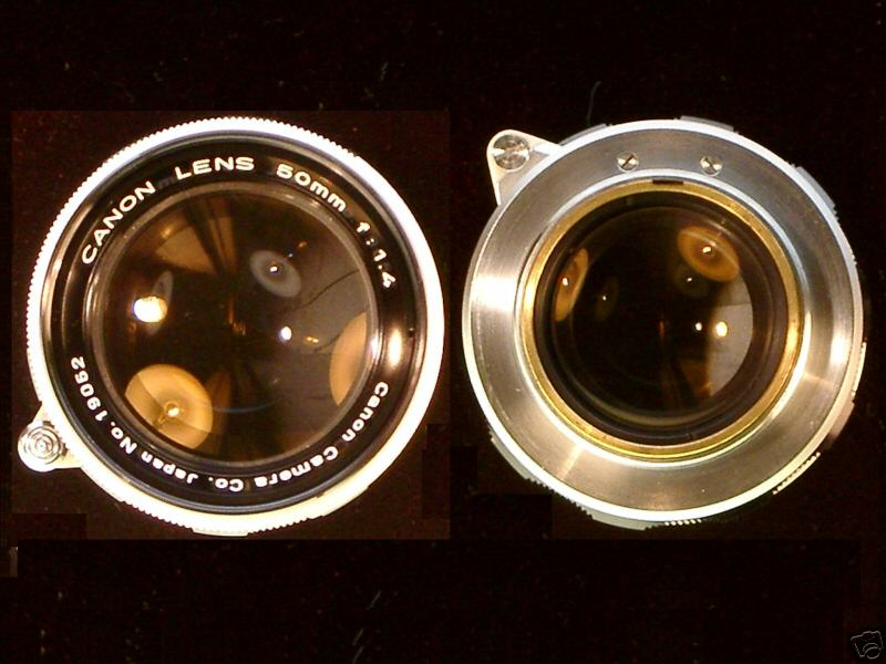 Canon 50/1.4 lens - front and rear