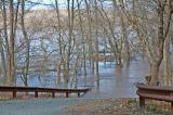 Scudder Falls Park, Delaware River flood