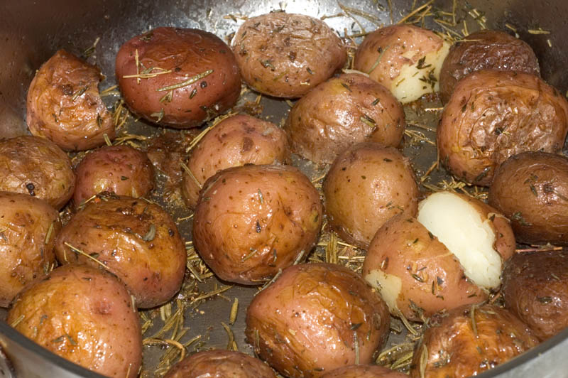 pan roasted red potatoes with rosemary
