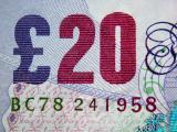 Detail of 20 pound note - uncropped