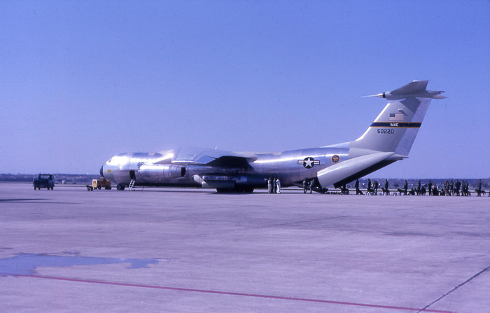 C-141 loading for Viet Nam at Kelly AFB Texas February 1966