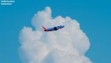 Southwest Airlines B737 aviation stock photo