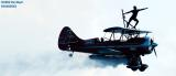 2002 Stuart Air Show Jimmy Franklin's jet-powered Waco aviation stock photos