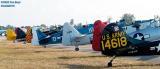 Warbird tails aviation air show stock photo