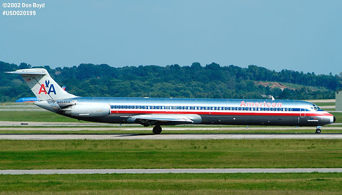 American Airlines MD-82 N454AA aviation stock photo