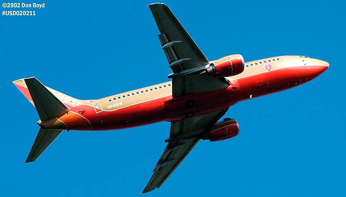 Southwest Airlines B737-3H4 N646SW aviation stock photo