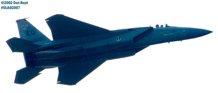 USAF F-15C-27-MC Eagle AF80-020 aviation air show stock photo #SUA02007