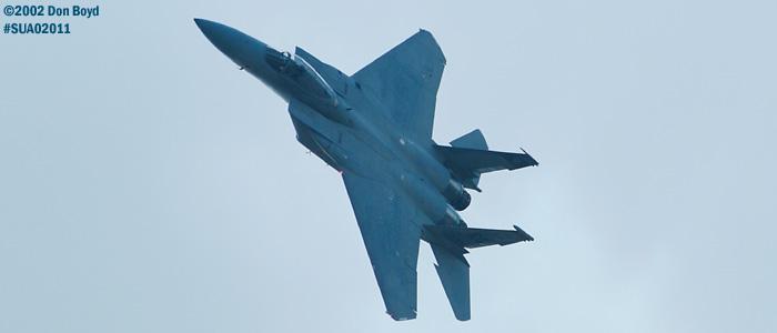 USAF F-15C-27-MC Eagle AF80-020 aviation air show stock photo #SUA02011