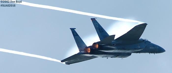 USAF F-15C-27-MC Eagle AF80-020 military aviation air show stock photo #SUA02016