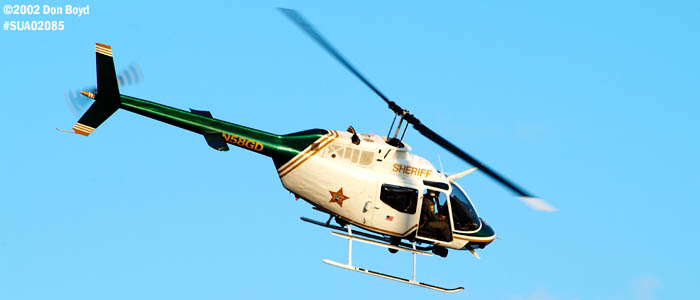 Martin County Sheriffs Office Bell OH-58A N58GD law enforcement aviation stock photo
