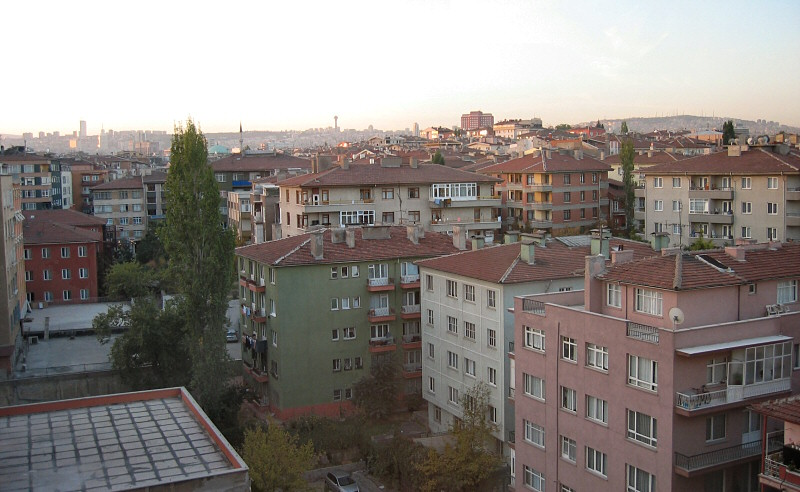 My first look at Turkey.  Ankara in the morning, about 6:51 am